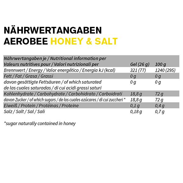 Aerobee Ausdauer Gel Nährwerttabelle Honey Salt